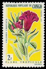 """P.R. CONGO 238 (Mi273) - Tropical Flowers """"Celosia cristata"""" (pa77310)"""
