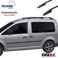 Dachreling Alu Schwarz (Elegance) für VW Caddy III Caddy IV mit TÜV / ABE
