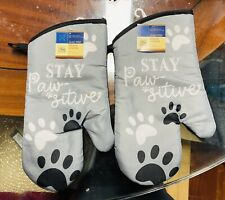 New listing Home Collection Kitchen Oven Mittens Stay Paw-sitive. Lot of 2. A+Seller.