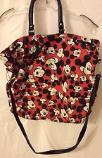 Mickey Mouse Canvas Tote Book Bag Draw Strap
