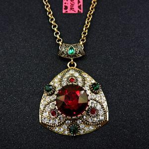Betsey Johnson Fashion Jewelry Popular Shining Crystal Pendant Chain Necklace