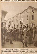 GUERRE 14/18 ASOLO PRISONNIERS AUTRICHIENS & ARMISTICE BREST-LITOVSK IMAGE 1916