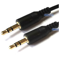 SHORT 10cm Mini 3.5mm Stereo Jack to Jack Audio Aux Cable Car Sound Lead Gold