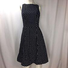 Atelier Tracy & Michael Sleeveless Black White Polka Dot Custom Made Dress Sz 4