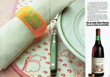 Publicité Advertising 127  1980  le vin de table Julien Damoy (2 pages)