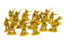 New Plastic Army Men 5cm 1/35 Figures (20pcs) Military Set Toy Soldier - Yellow