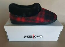Minnetonka Women's Steffie Slipper in Red Plaid Size Medium US 6.5-7.5 New