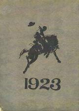 Blackfoot Idaho High School Yearbook 1923 The Bronco