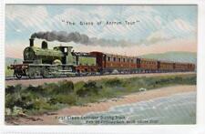 """THE GLENS OF ANTRIM TOUR"": Official Railway postcard (C34023)"