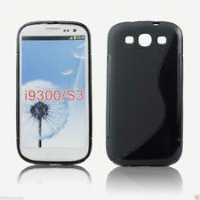 Coque Etui silicone gel NOIRE noire Façon X pour Samsung i9300 Galaxy S3