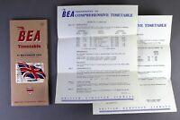 BEA BRITISH EUROPEAN AIRWAYS AIRLINE TIMETABLE NOVEMBER 1953 WITH AMENDMENTS