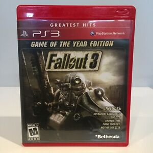 Fallout 3: Game of the Year Edition (PS3, 2009) Complete & Tested - LIKE NEW