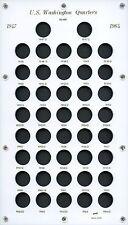 """Capital Plastic 8"""" x 14"""" """"U.S. Washngton Quarter 1947-1964"""" - White"""