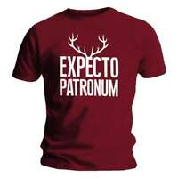 Official Licensed Harry Potter Expecto Patronum Antlers Men's T-Shirt Burgundy