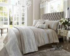 Dallas Stripe Diamante Embelished Luxury Bedding Duvet Set Range