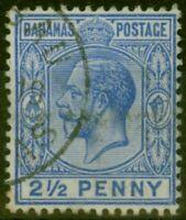 Bahamas 1912 2 1/2d Dp Dull Blue SG84a V.F.U
