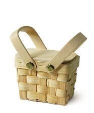 18 NEW Mini Picnic Baskets Wedding Favor Boxes Decorations Q16370