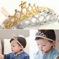 Girls Princess Crown Headwear Headbands Bow Toddler Baby Kids Hair Accessories