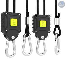 "VIVOSUN 6 Pair 1/8"" Adjustable Rope Ratchet Hangers for Grow Light LED Reflector"