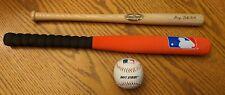 "Lot of Babe Ruth 18"" Louisville Slugger 125 Wood Bat,  MLB Franklin Bat & ball"