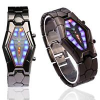 Cool Stil Uhr Herren Armbanduhr LED Uhr Modeuhr Schwarz Armband Armbanduhren