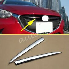 Chrome Grill Strips For Mazda2 Demio 2015-2017 DJ DL Front Grille Trim Molding