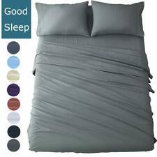Shilucheng Queen Size Bed Sheets Set Microfiber 1800 Thread Count Percale Super