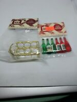 Town Square Doll House Miniatures 1:12  Six Wine Bottles & Wine Rack
