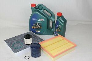 Original Inspektionskit 2,0 Diesel Ford Mondeo MK5 inkl. 6 Liter 0W30 Castrol Öl