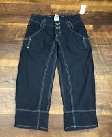 NWT JOIE Navy Blue Crop Capri Zipper Ankle size 26 Women's Casual Pants