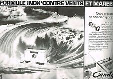 PUBLICITE  1980   CANDY  lave linge machine à laver INOX  (2 pages)