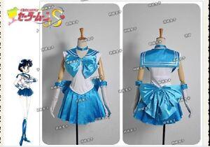 Sailor Moon Sailor Mercury Ami Cosplay Costumes Custom Made