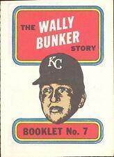 TOPPS BASEBALL MINI COMIC BOOKLET 1970 7 WALLY BUNKER
