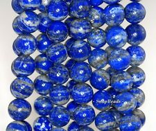 "8MM AZURA LAPIS LAZULI GEMSTONE A BLUE ROUND 8MM LOOSE BEADS 15.5"""
