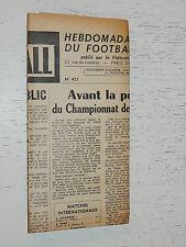 FRANCE FOOTBALL OFFICIEL HEBDOMADAIRE FFF N°421 13/04 1954
