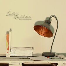 Industrie Tischleuchte Loft Edison Lampe grau Kupfer Retro Leuchte Tischlampe