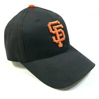 San Francisco Giants Black Curved Brim Baseball Hat Cap One Orange Logo New