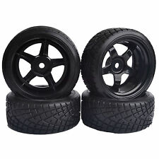 4PCS 9mm Offset RC 1/10 On-Road Drift Car Hard Tires Wheels Rim HSP 8030-6013