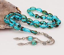 REAL Tightening Amber, Islamic Prayer 33 beads, Tasbih, Misbaha, Tasbeeh, 8x12mm