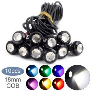 10pcs Eagle Eye Motor Car 18mm 9W LED Fog Reverse Backup DRL Light Lamp Bulbs