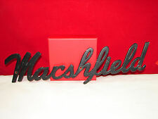 VTG Marshfield TRAVEL TRAILER Script Emblem Nameplate Ornament Grille RARE!!