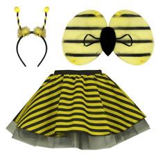 GIRLS Kids Bumble Bee TUTU SKIRT FANCY DRESS COSTUME DANCE Honey Bee Costume