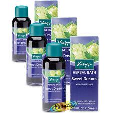 3x Kneipp Herbal Bath Oil Sweet Dreams VALERIAN & HOPS 100ml