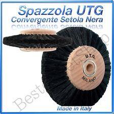 Spazzola Ø 77mm Misura 4 Fili  UTG CONVERGENTE setola nera mozzo in legno ITALY