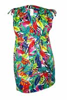 Lauren Ralph Lauren Women's Plus Size Rainforest Farrah Swim Cover (3X, Multi)