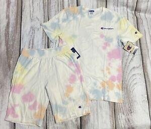 Champion Men's 2pc set  Tshirt &  Short Sz Small Pink & Multicolor Nwt