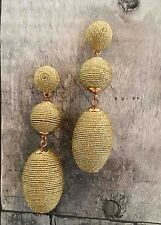 PARKER SPARROW GOLD BEEHIVE THREAD BALL BON BON POST BACK EARRINGS