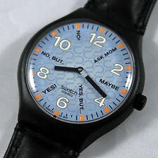 swatch vintage touch ask your swatch stgb100 orologio uomo nero raro