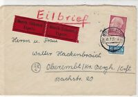 Germany 1955 Dusseldorf Cancel Obligatory Tax Aid for Berlin Stamps Cover  26479