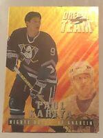 1995-96 PAUL KARIYA SCORE DREAM TEAM Insert Card #7 Super Rare Mint Mighty Ducks